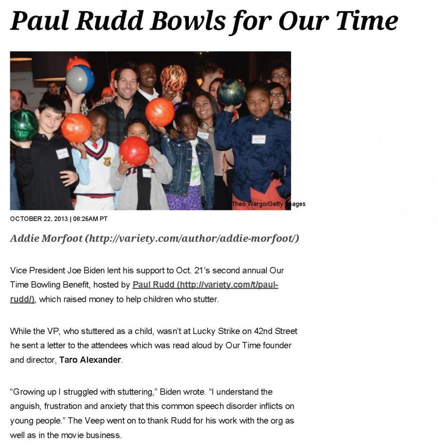 Paul Rudd Bowls for Kids Who Stutter