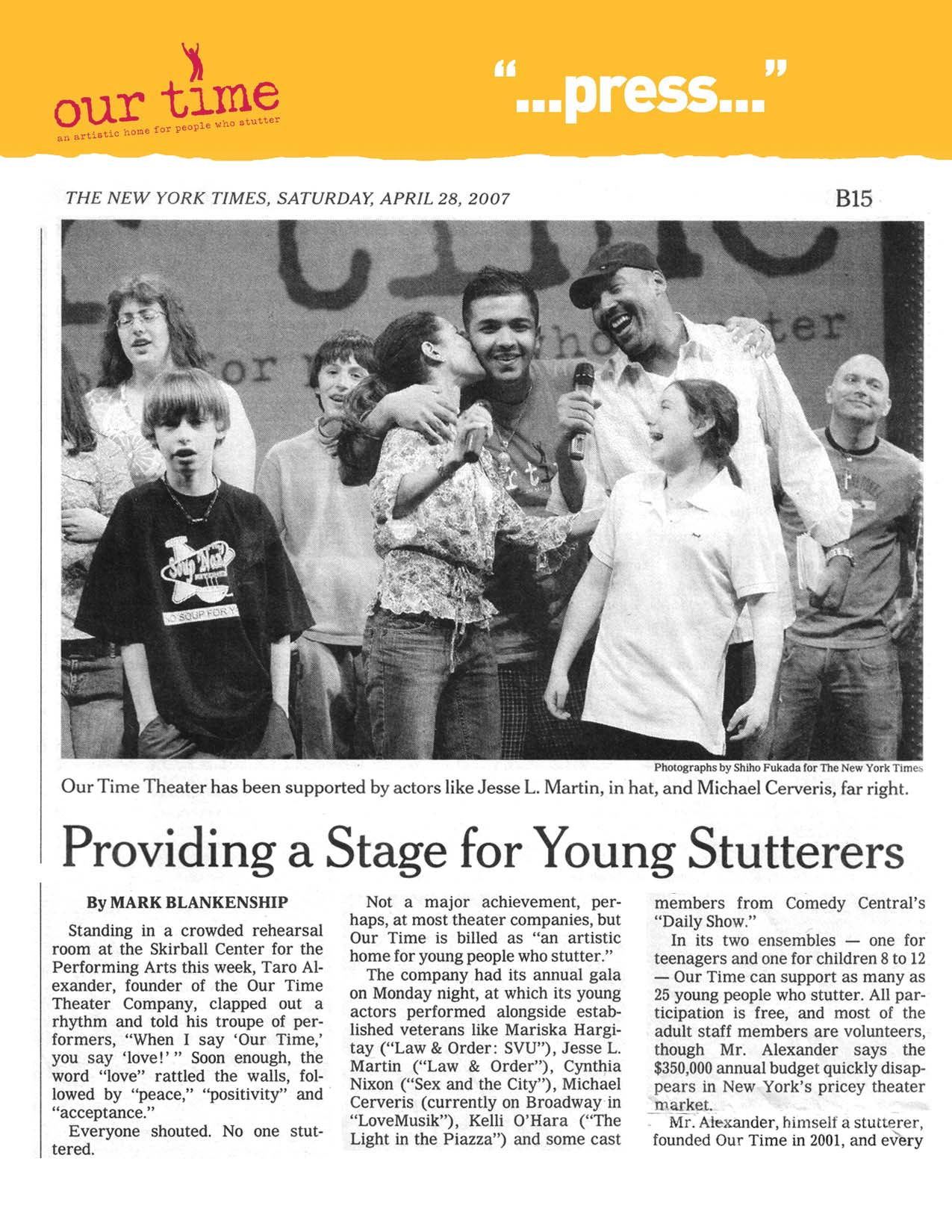 Providing a Stage for Young Stutterers