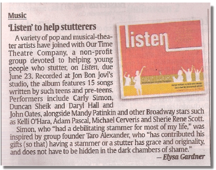 """""""Listen"""" CD Benefits Kids who Stutter"""