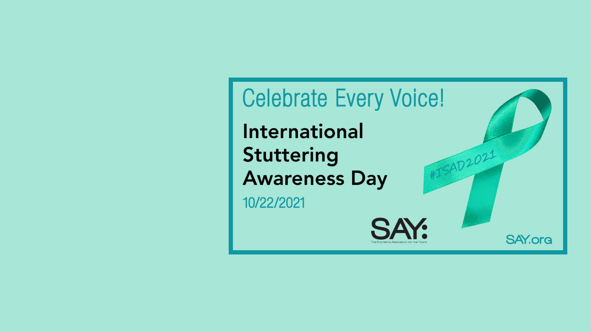 Join the ISAD 2021 Celebration!