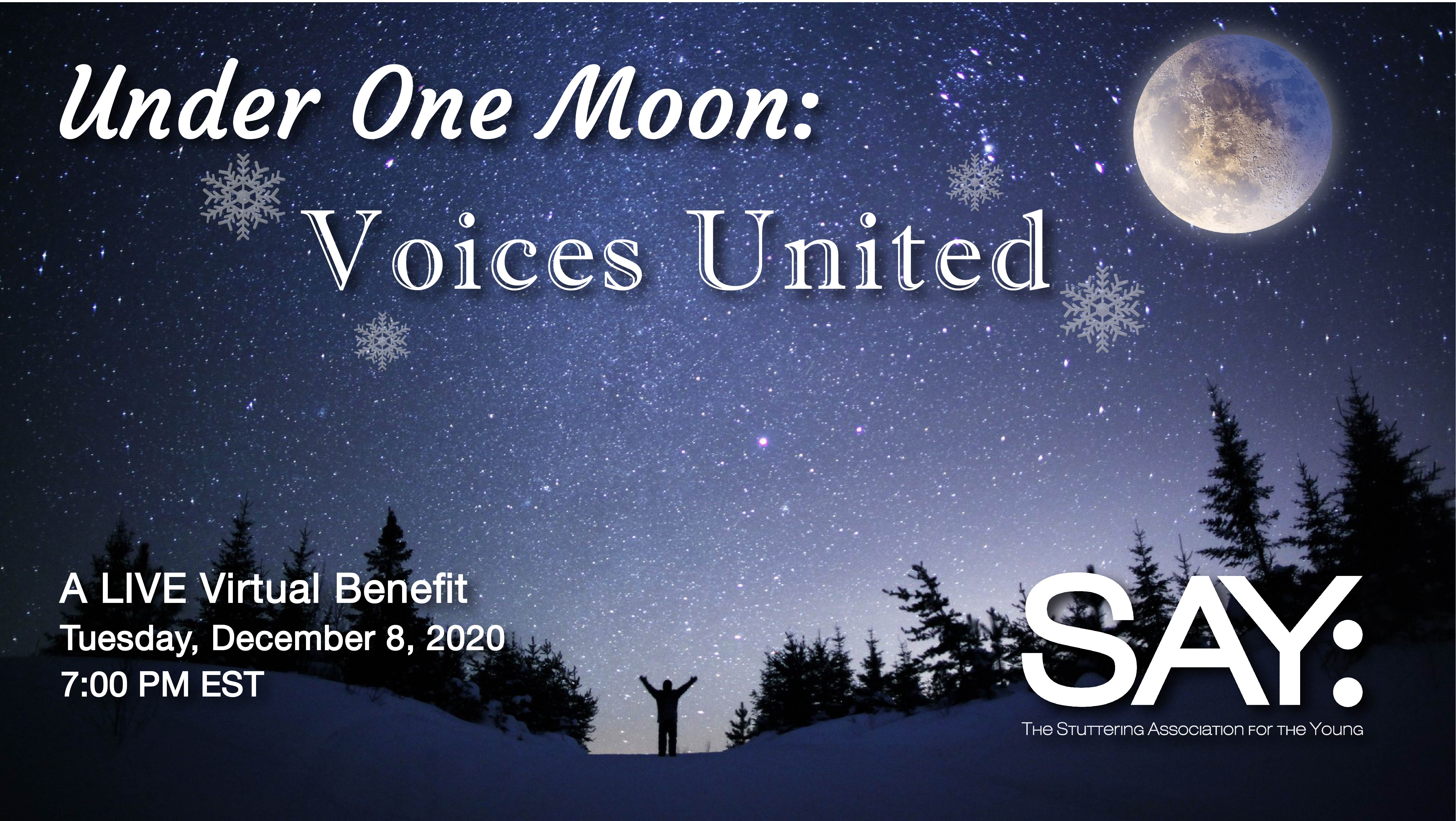 Under One Moon: VOICES UNITED Live Virtual Benefit